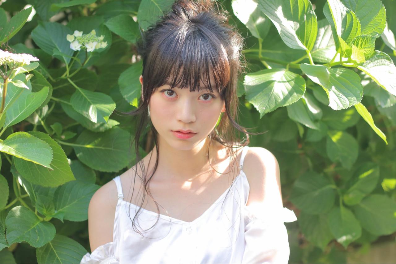 ヌーディーベージュ ショート ヘアアレンジ ナチュラル ヘアスタイルや髪型の写真・画像   阿部隆幸 / SORA 広尾店