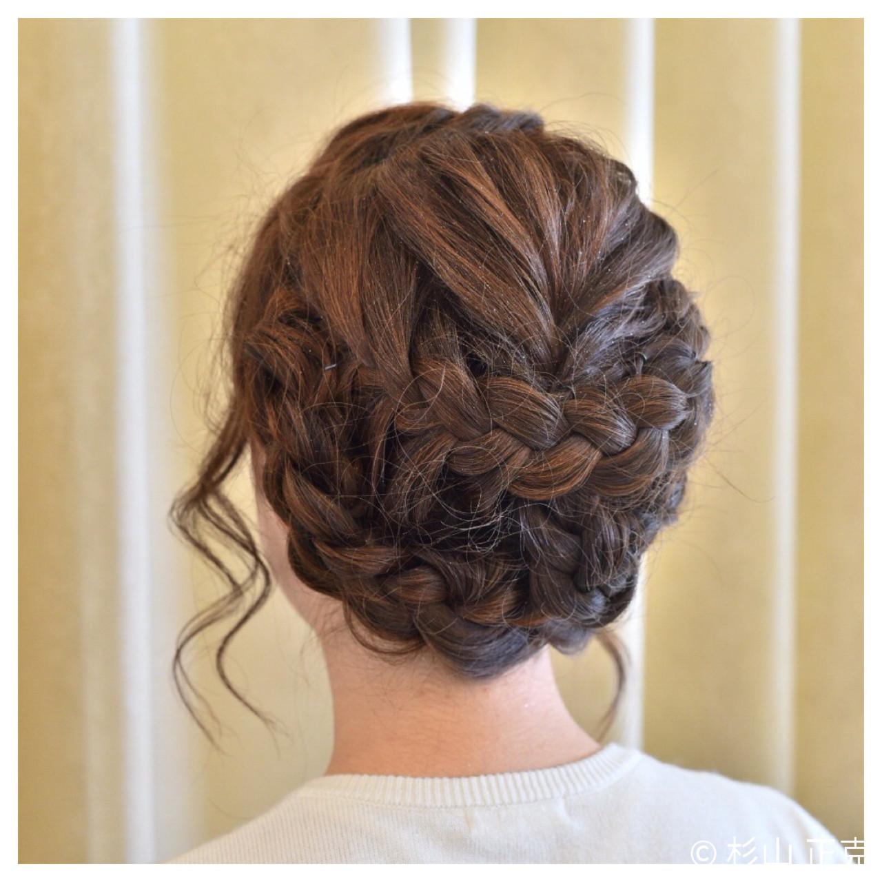ヘアアレンジ フィッシュボーン 結婚式 ロング ヘアスタイルや髪型の写真・画像 | 杉山 正克 / lCONIQ 日進梅森台