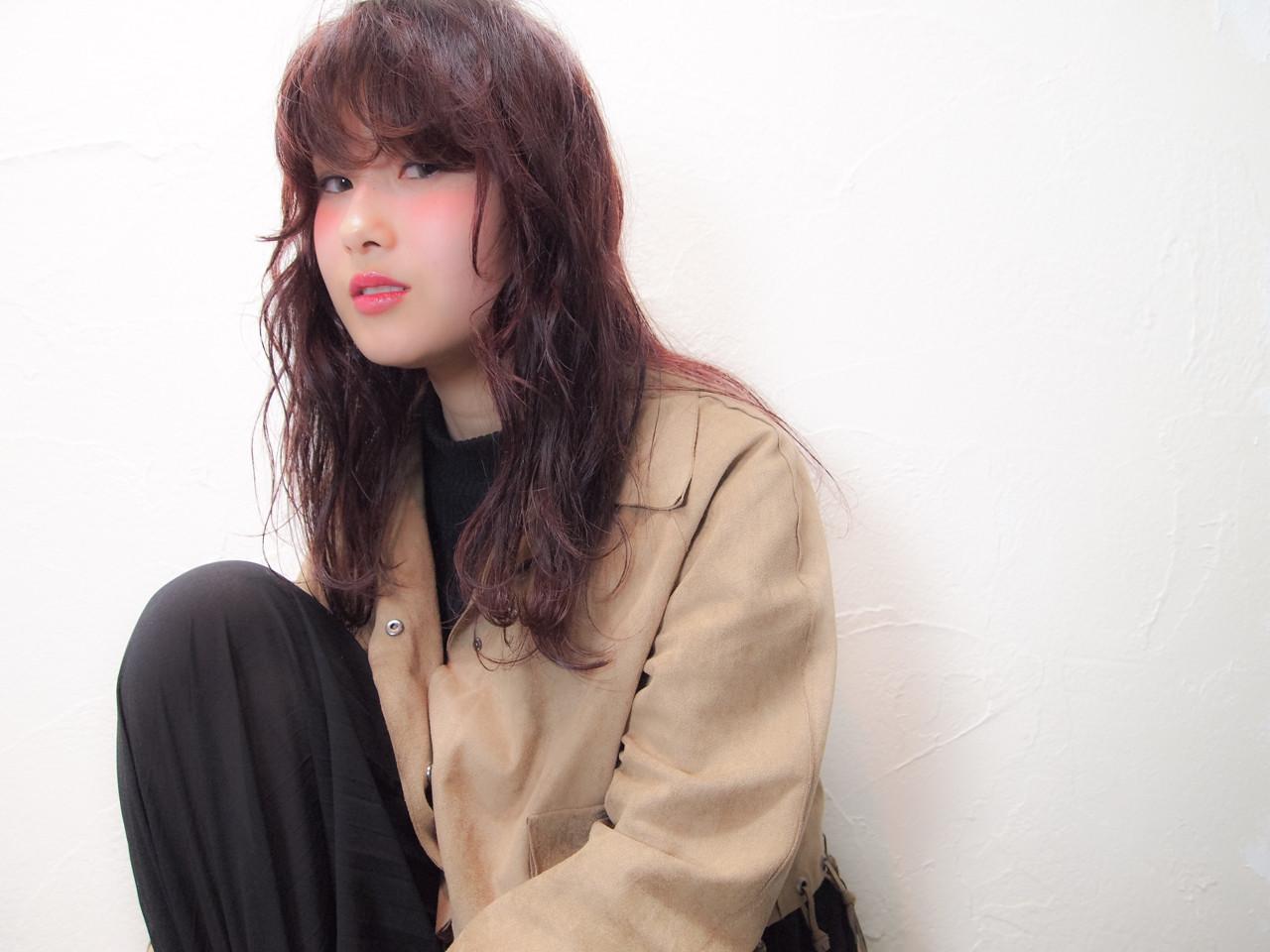 ボルドー ピンク レッド ストリート ヘアスタイルや髪型の写真・画像 | 佐藤 裕香 / hair salon Loye
