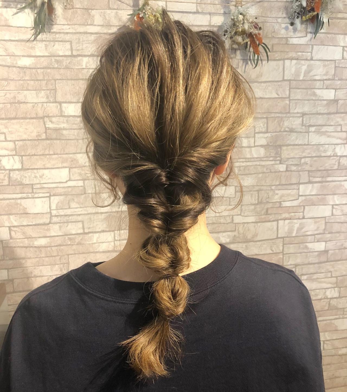 ヘアアレンジ セルフヘアアレンジ くるりんぱ ロングヘアスタイルや髪型の写真・画像