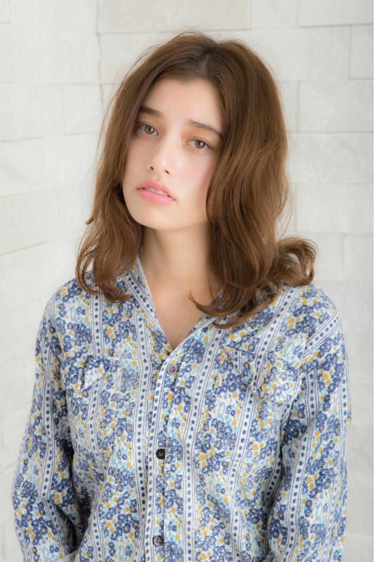 パーマ 外国人風カラー ゆるふわ 小顔ヘアスタイルや髪型の写真・画像