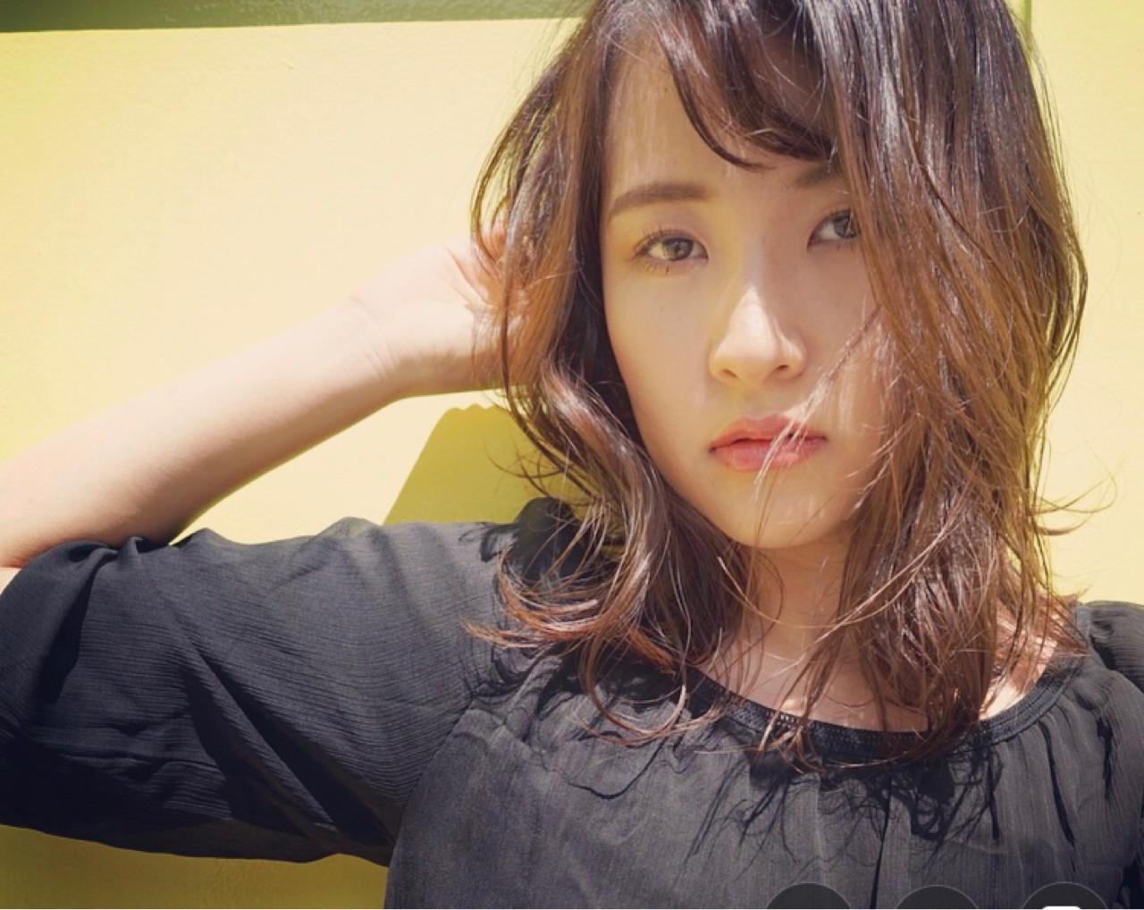 ナチュラル ヘアアレンジ デート オフィス ヘアスタイルや髪型の写真・画像 | KAZUKI / F AVEDA