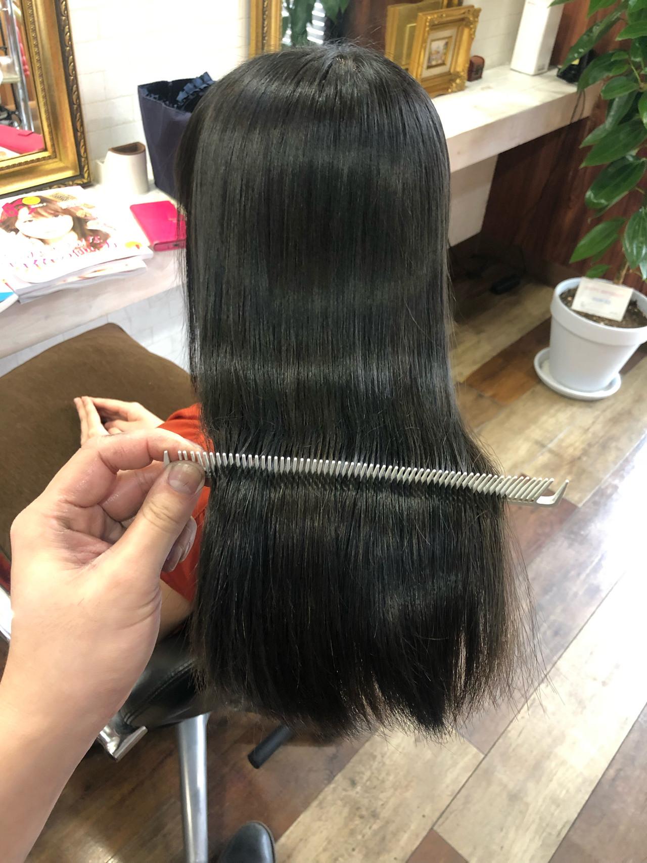 髪質改善カラー ロング 髪質改善 美髪ヘアスタイルや髪型の写真・画像