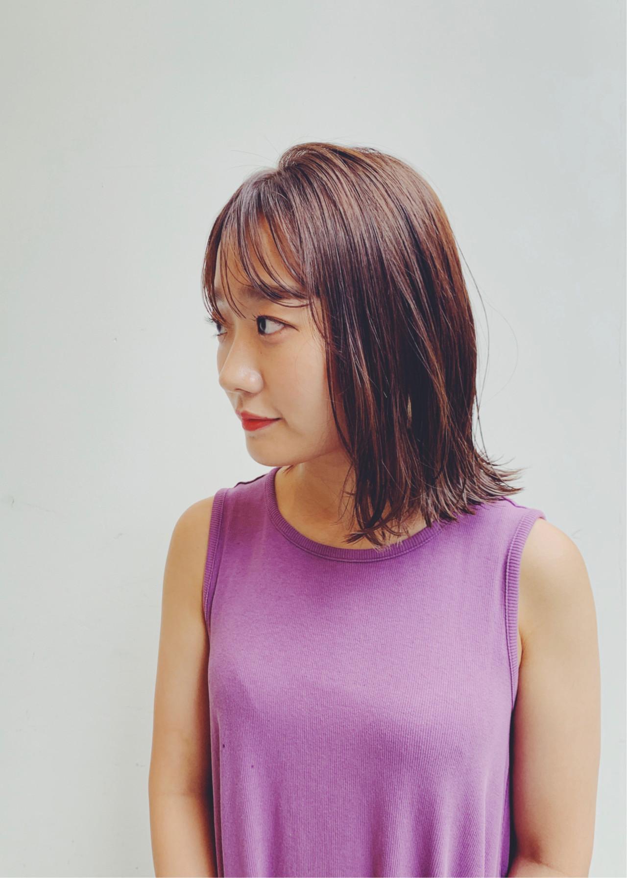 ハイライト ナチュラル 外はね インナーカラー ヘアスタイルや髪型の写真・画像 | 林清馬 / femme /AMIES