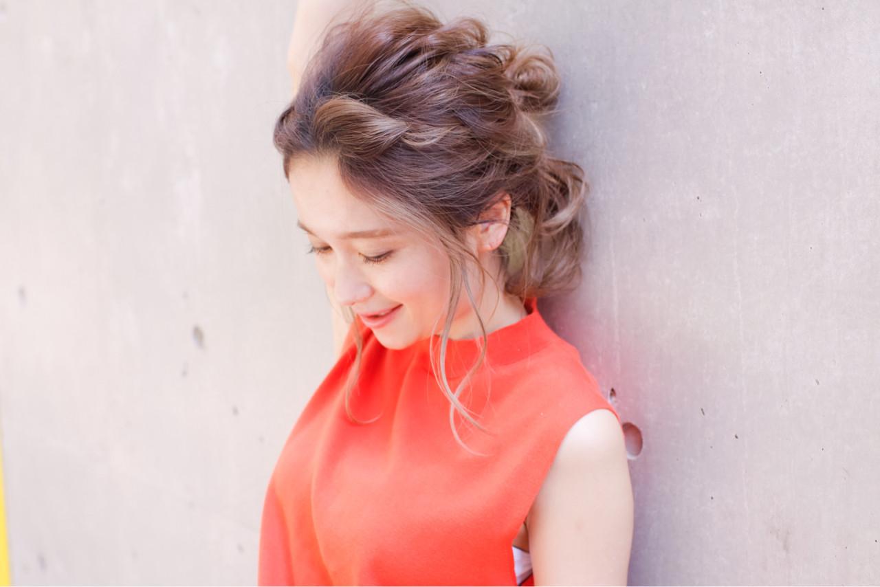 ハーフアップ ショート ロング ゆるふわヘアスタイルや髪型の写真・画像