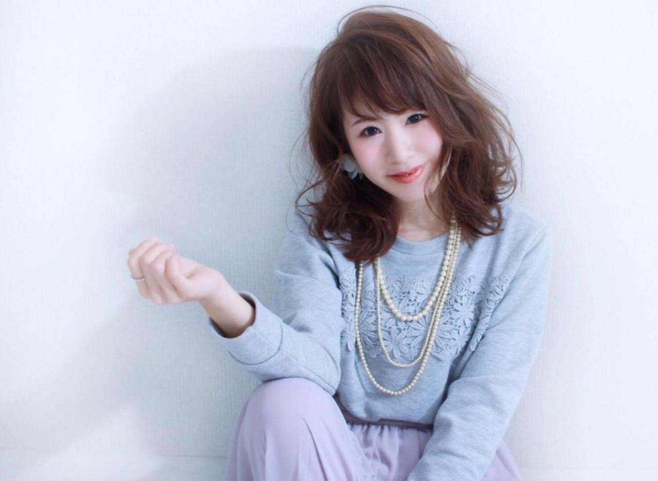 ヘアアレンジ 大人かわいい フェミニン 大人女子 ヘアスタイルや髪型の写真・画像 | 夢乃 /