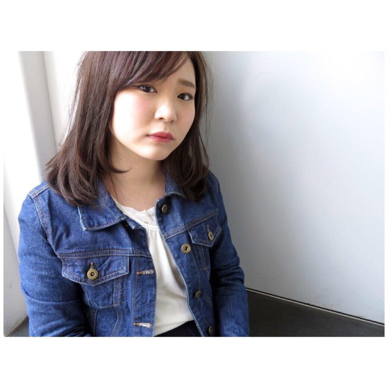 ナチュラル スモーキーカラー 小顔 ストレート ヘアスタイルや髪型の写真・画像 | Yumi Hiramatsu / Sourire Imaizumi【スーリール イマイズミ】