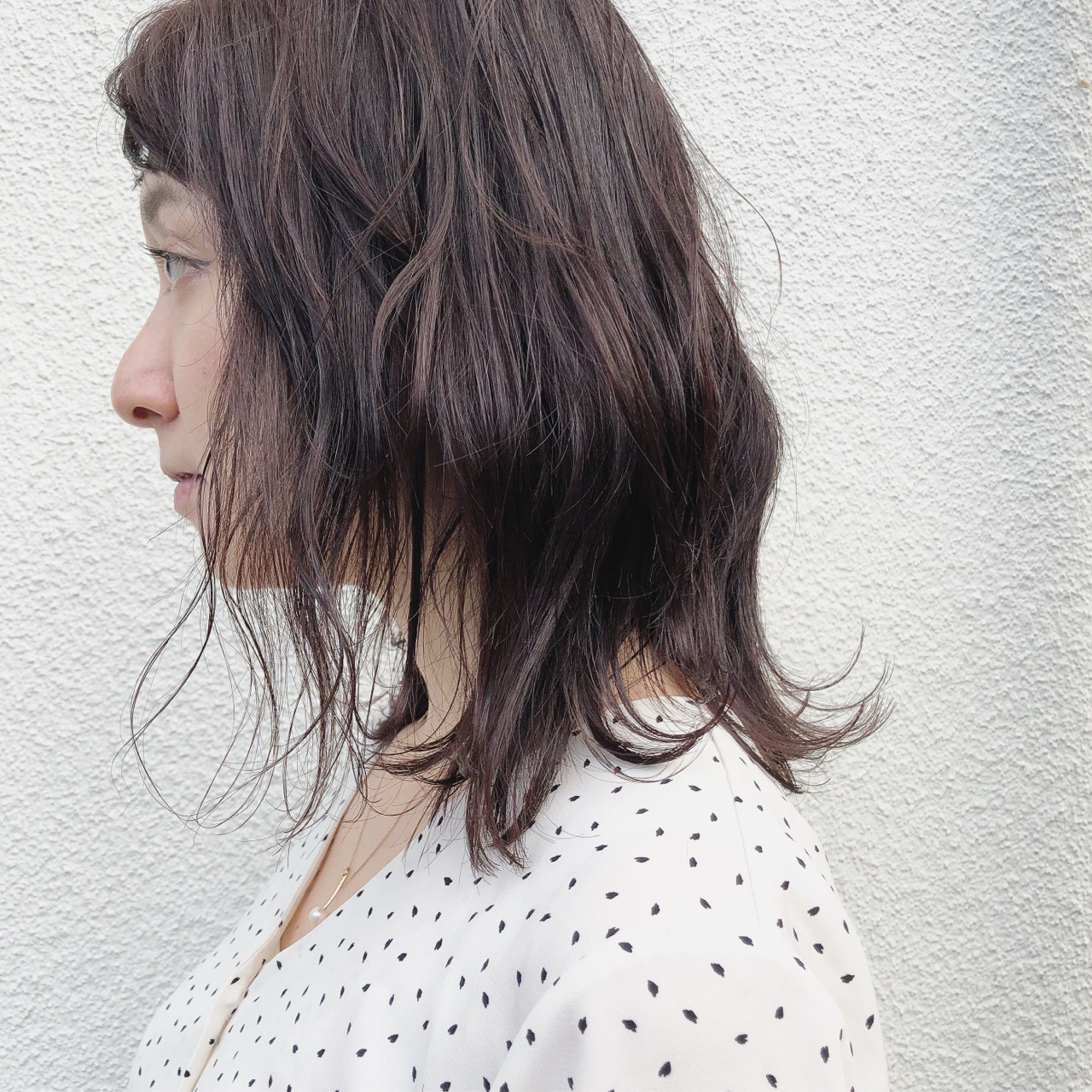ナチュラル ミディアム こなれ感 外ハネ ヘアスタイルや髪型の写真・画像 | 篠崎 佑介 / ticro.