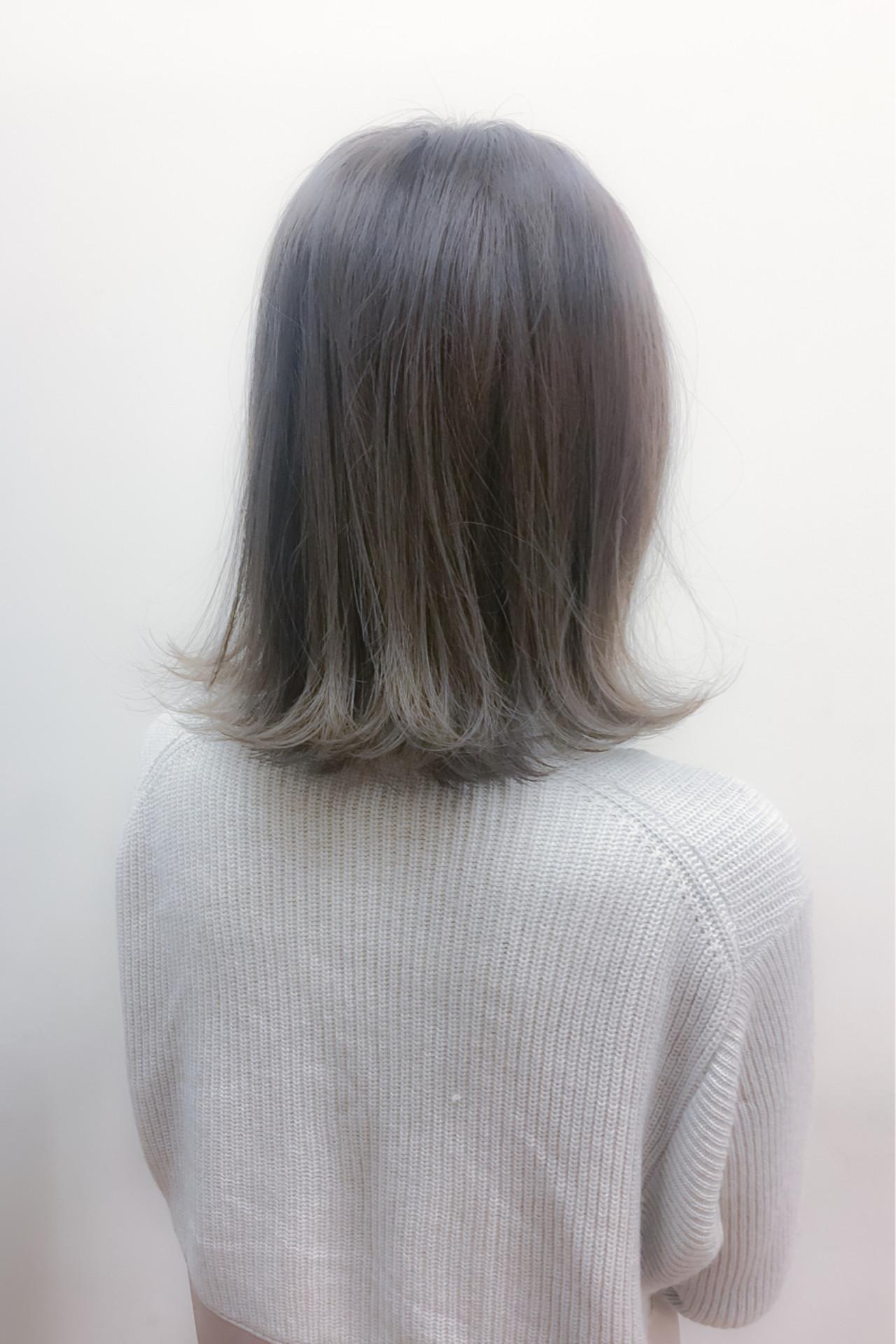 ミディアム グラデーションカラー アッシュ ストリート ヘアスタイルや髪型の写真・画像 | 井手口 倫也 / luve heart's And Be+Eclat