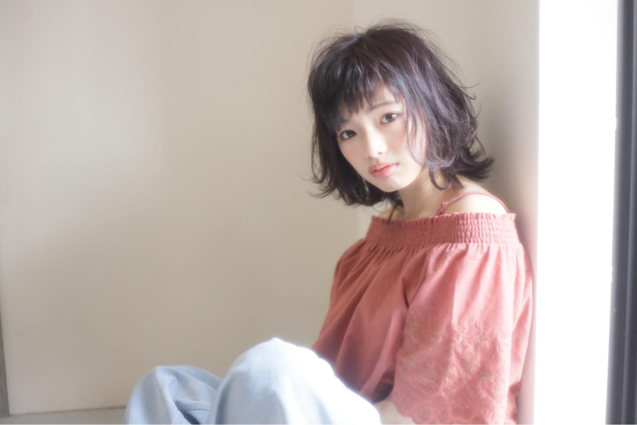 パーマ ミディアム オフィス リラックス ヘアスタイルや髪型の写真・画像 | 本田寿雄 / kith.
