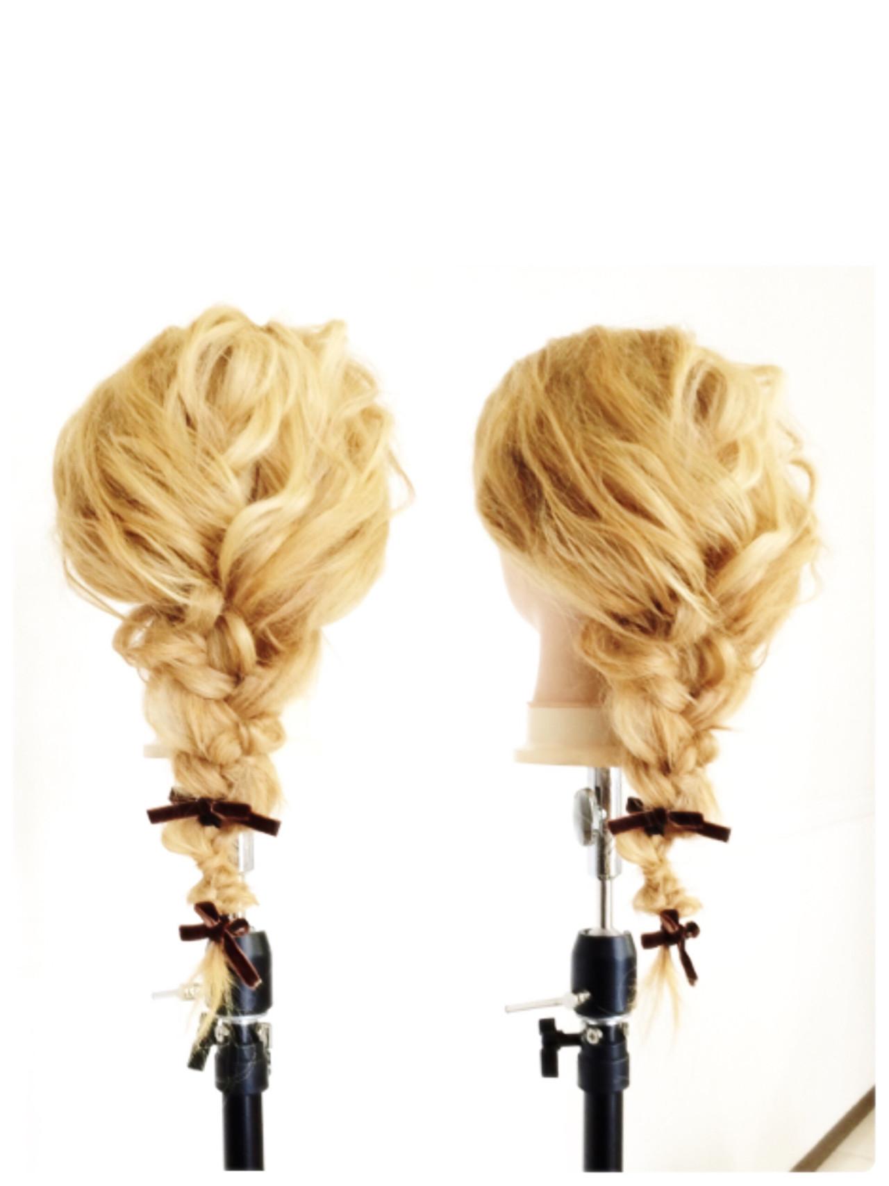 くせ毛風 簡単ヘアアレンジ 外国人風 ヘアアレンジ ヘアスタイルや髪型の写真・画像 | 坂東崇 / hair make DOLCE