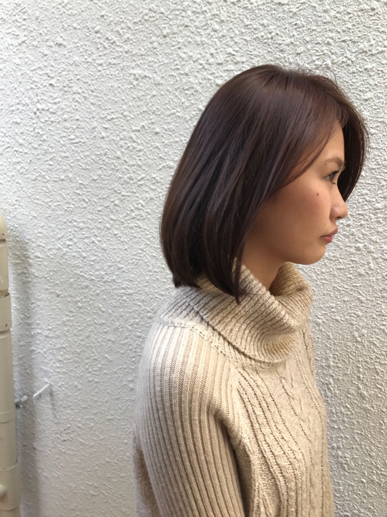 小顔 冬 色気 ナチュラル ヘアスタイルや髪型の写真・画像 | 高田 紘希 / Rr hair salon