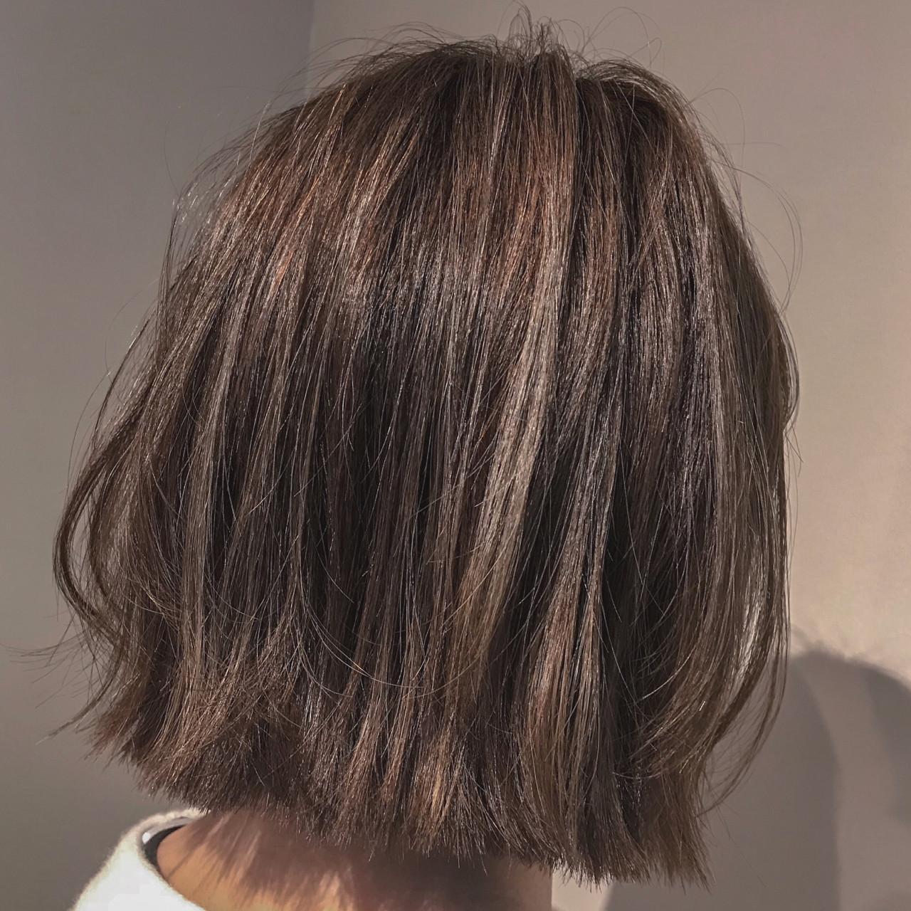 外ハネ アンニュイ ボブ ナチュラル ヘアスタイルや髪型の写真・画像 | TOMOKO KUDO / IKKA
