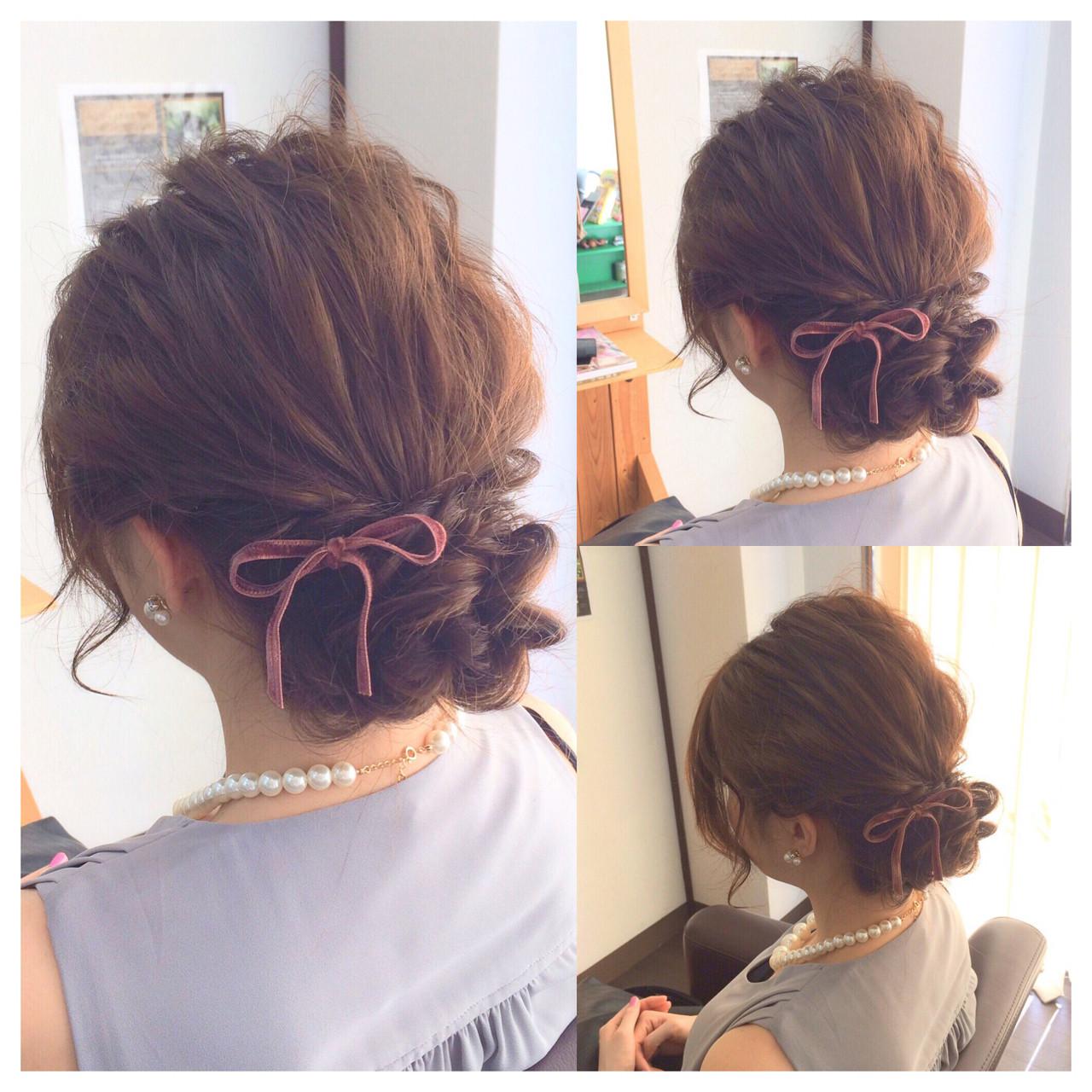 ヘアアレンジ フェミニン ロング 二次会 ヘアスタイルや髪型の写真・画像 | ヤマナカサトル / DIOR of Hair