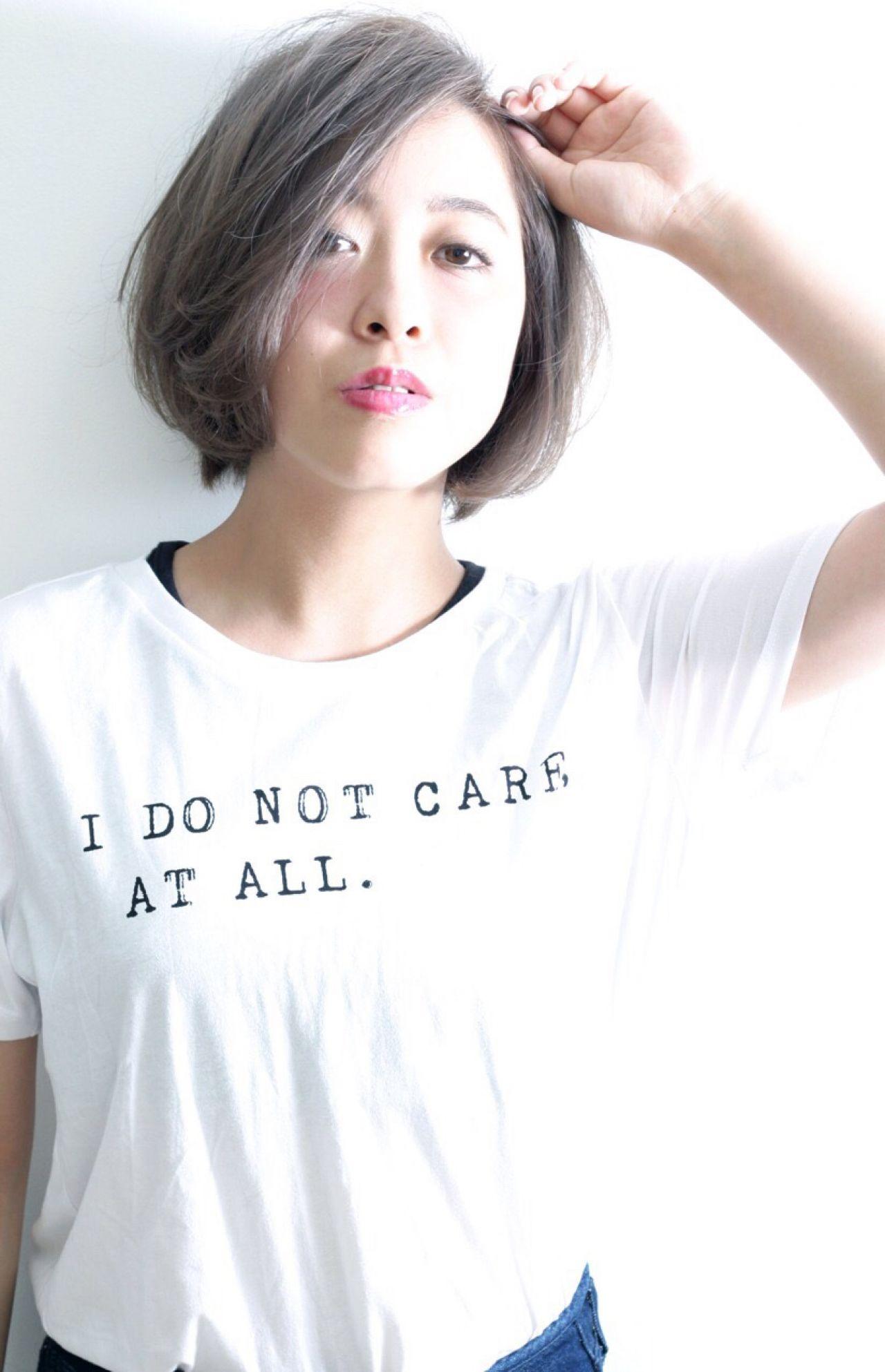今年の秋冬はいい女に♡「アッシュグレー」で作る上品ヘア 長岡 紗和子