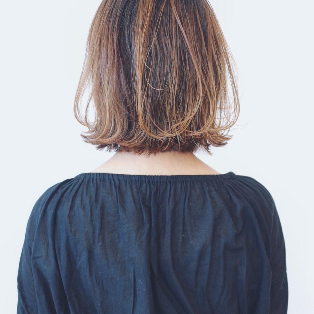 フェミニン バレイヤージュ グラデーションカラー 外国人風カラー ヘアスタイルや髪型の写真・画像 | 三好 佳奈美 / Baco.(バコ)