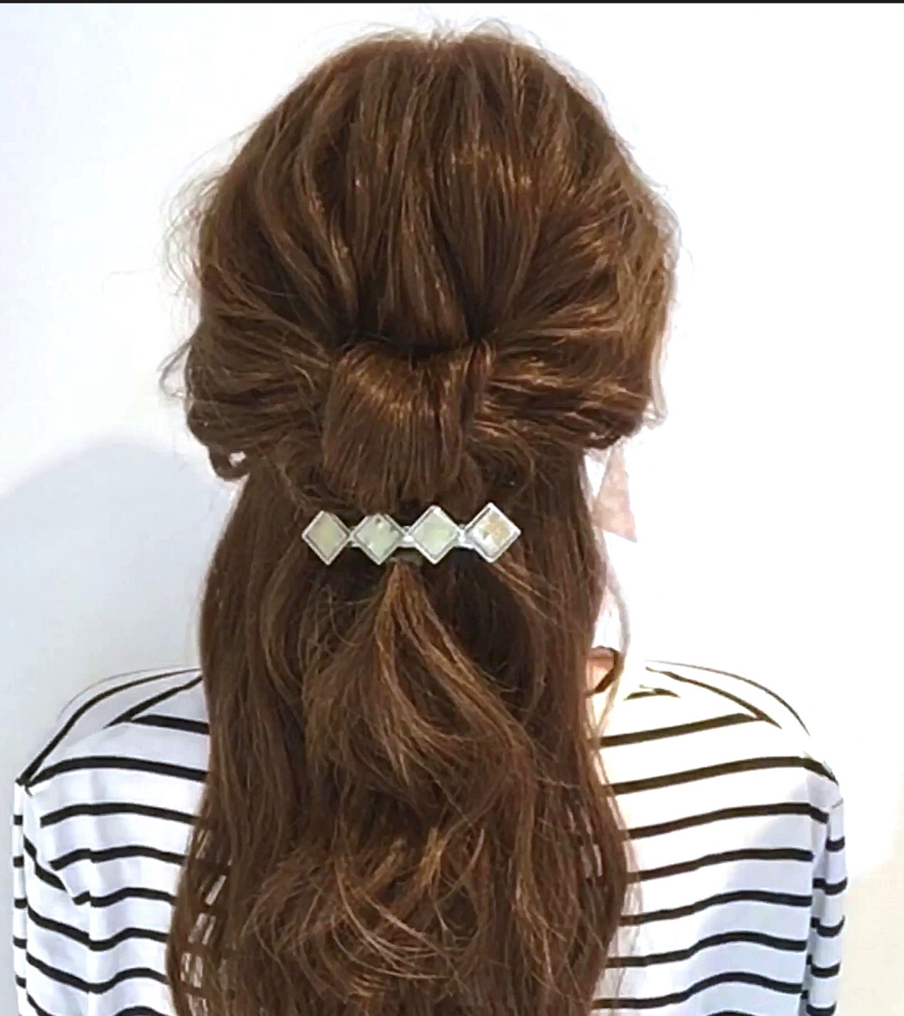 セルフアレンジ フェミニン 簡単ヘアアレンジ ハーフアップヘアスタイルや髪型の写真・画像