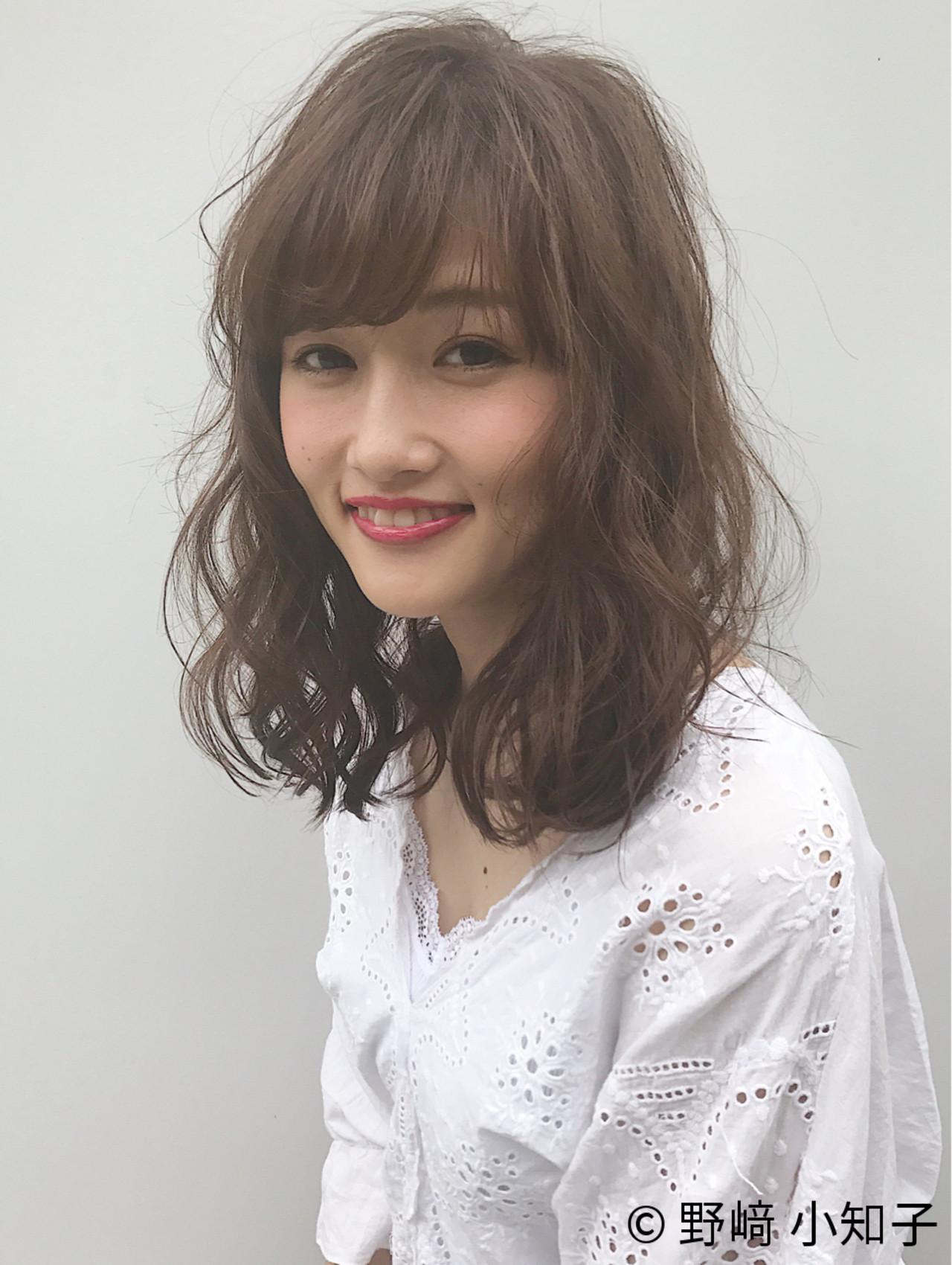 斜め前髪 パーマ 大人かわいい 色気 ヘアスタイルや髪型の写真・画像 | 野﨑 小知子 / CACINA TOKYO