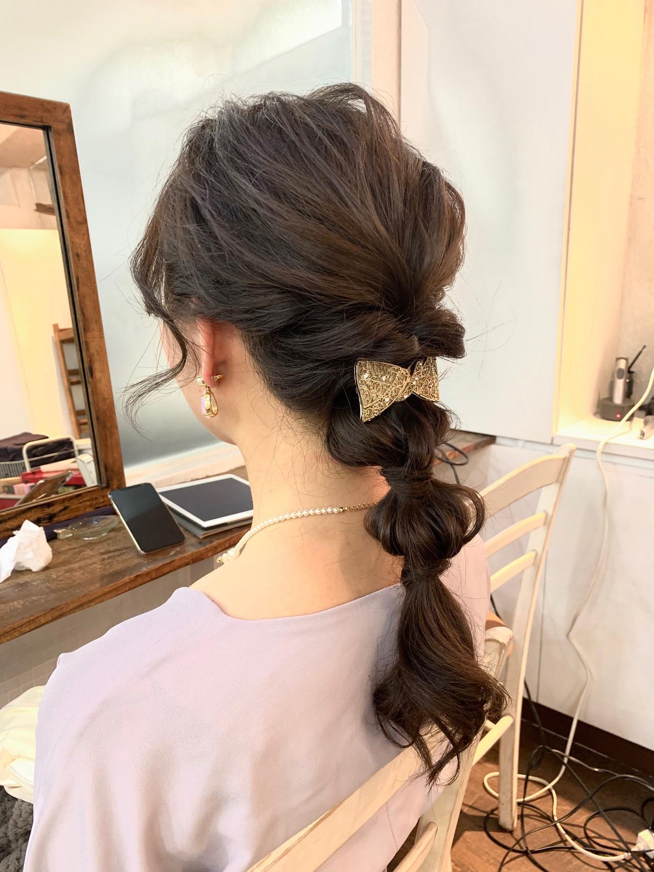 ヘアアレンジ ガーリー 玉ねぎ ロング ヘアスタイルや髪型の写真・画像 | Chie Ogusu / Hair and Make Chie Ogusu