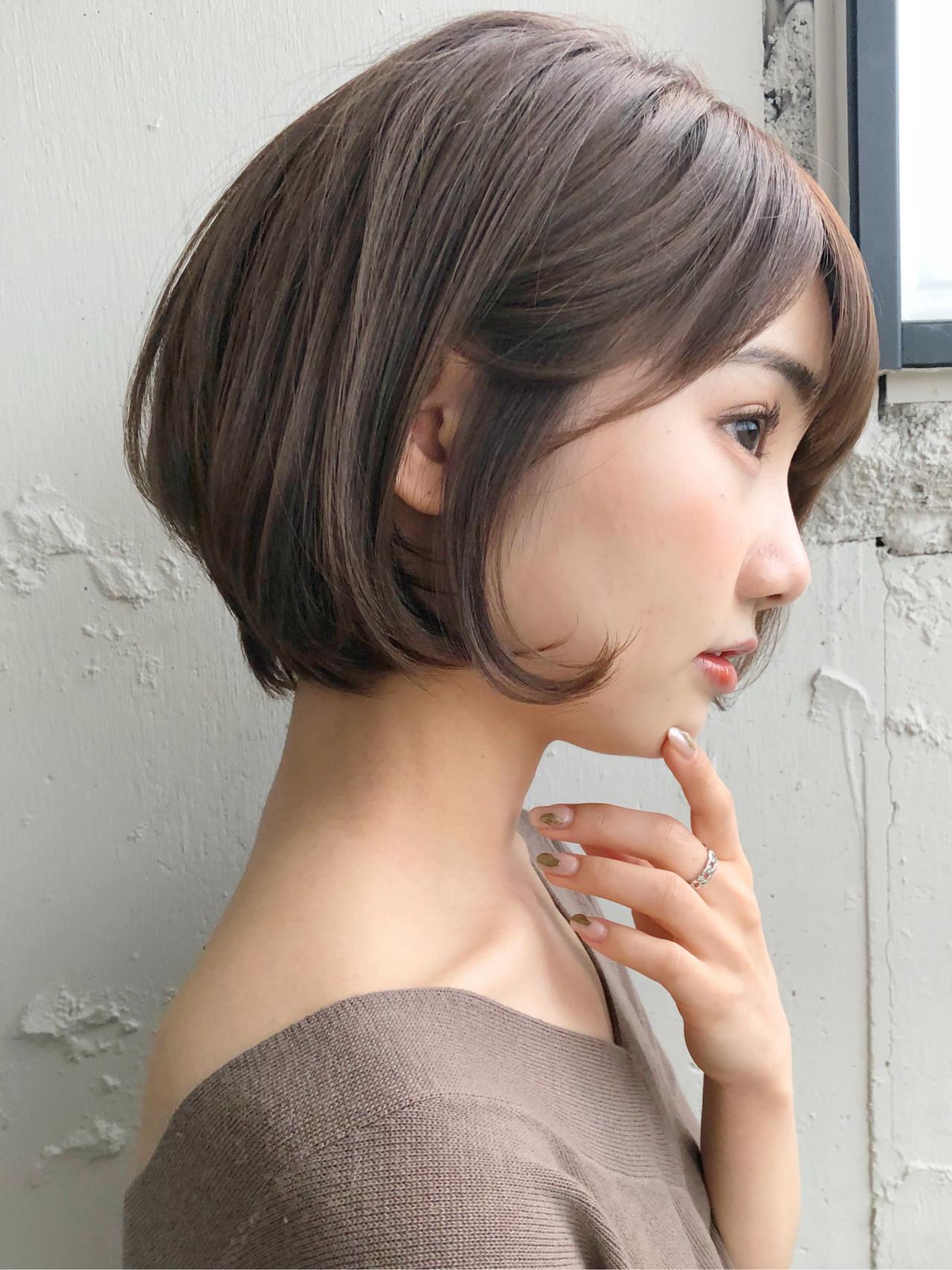 アンニュイほつれヘア ショート ショートヘア 前下がりショート ヘアスタイルや髪型の写真・画像
