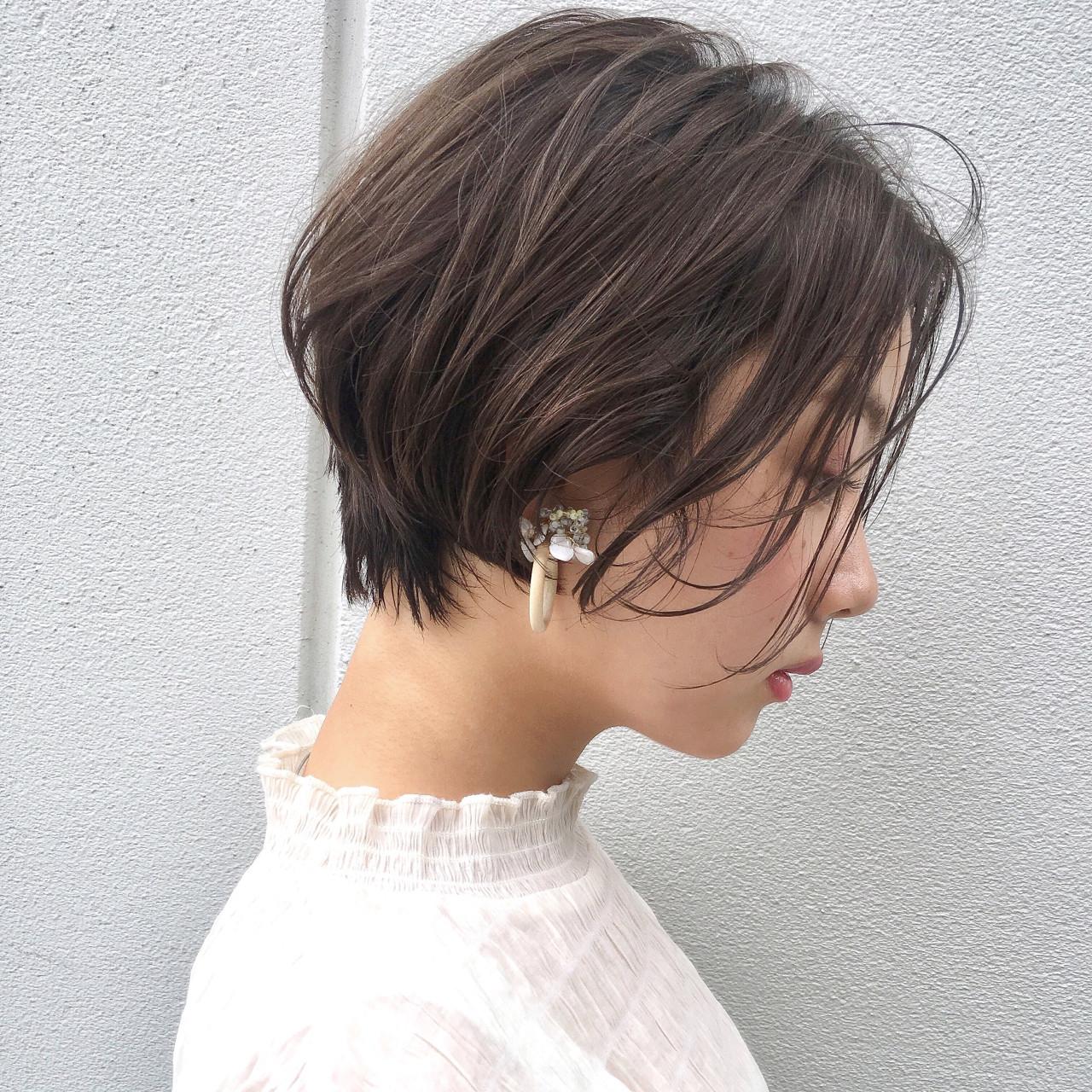 デート ナチュラル ヘアアレンジ エフォートレス ヘアスタイルや髪型の写真・画像 | ショートボブの匠【 山内大成 】『i.hair』 / 『 i. 』 omotesando