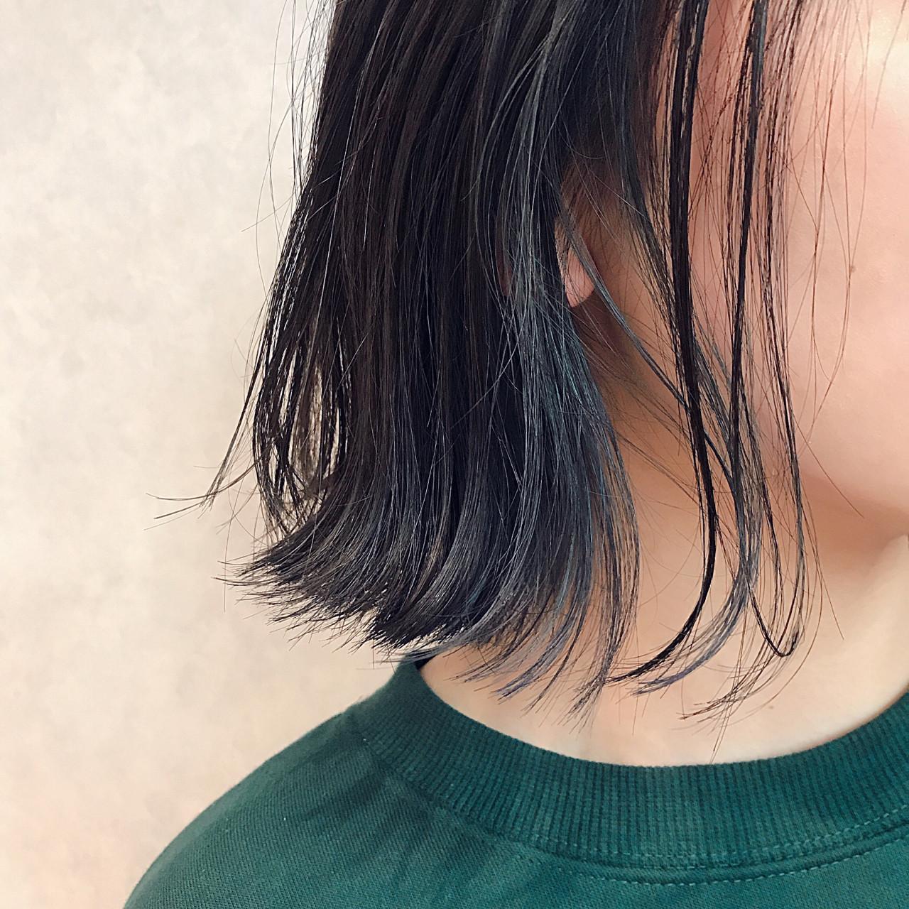 スポーツ ボブ ヘアアレンジ インナーカラー ヘアスタイルや髪型の写真・画像 | 永澤佑衣 / December