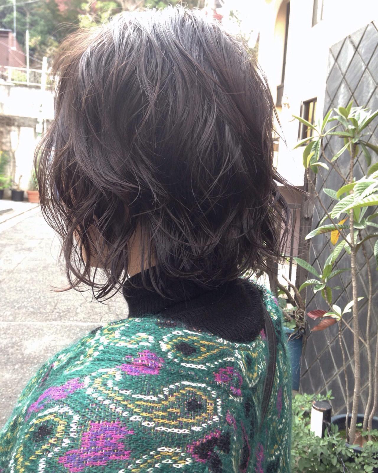 簡単 ボブ デート ナチュラル ヘアスタイルや髪型の写真・画像 | 丸山 勇人 / Tierra (ティエラ)