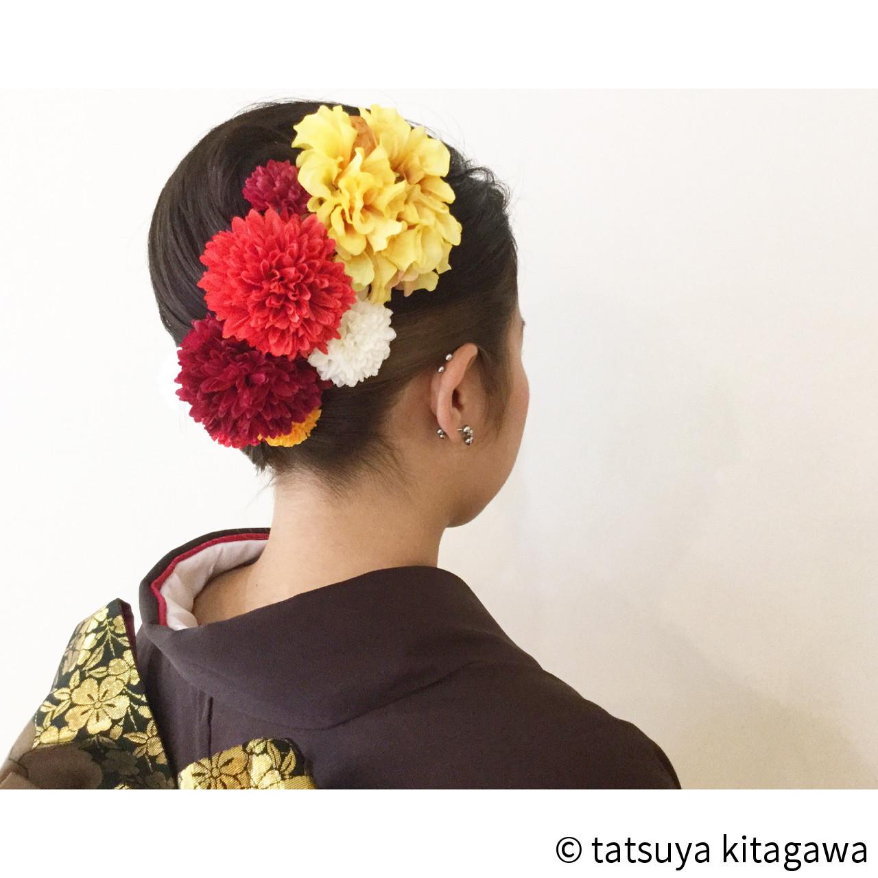 ハイライト セミロング 成人式 袴 ヘアスタイルや髪型の写真・画像 | tatsuya kitagawa / clarity 京都駅前本店
