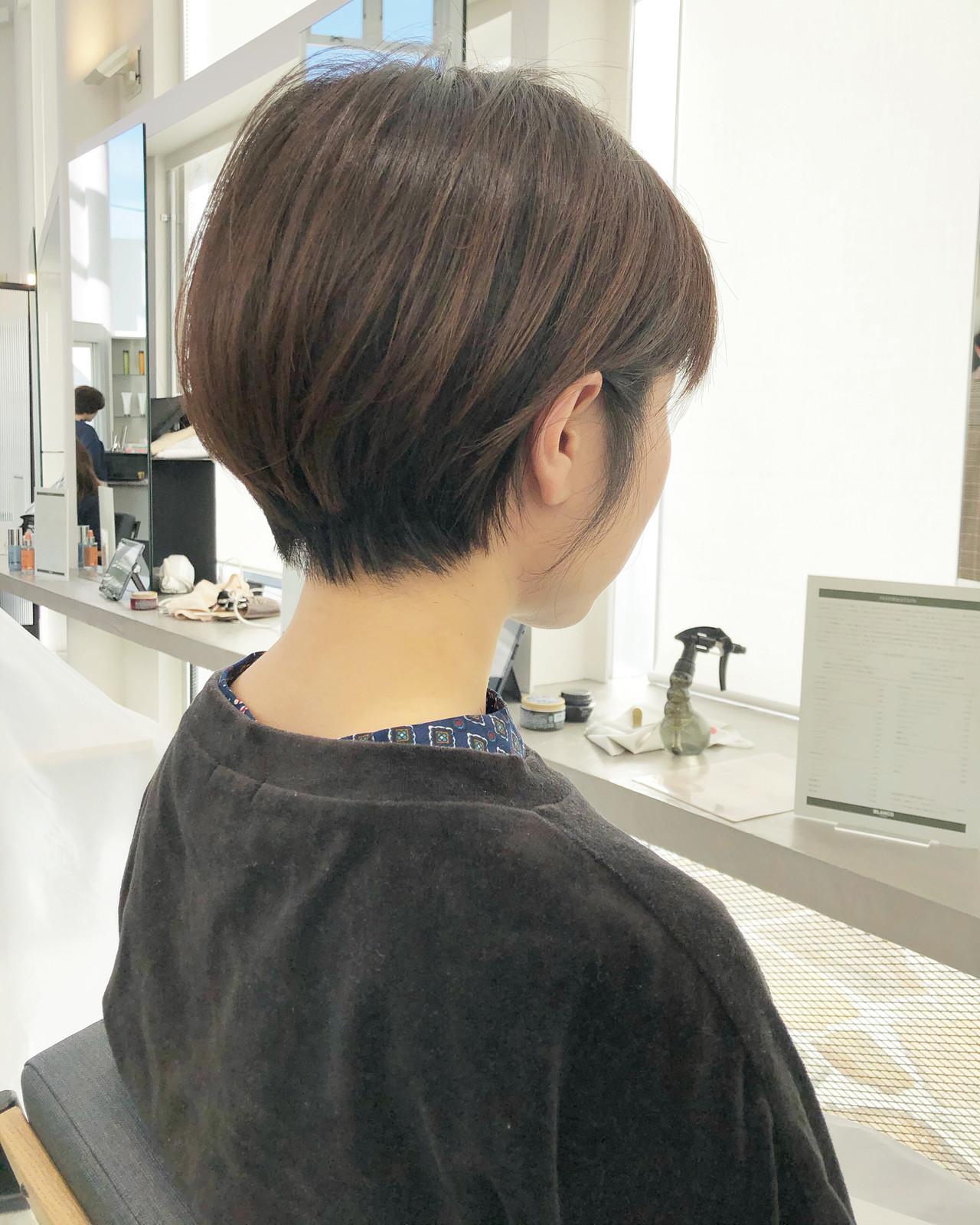 ナチュラル ショートボブ ショートヘア ベリーショート ヘアスタイルや髪型の写真・画像 | 市岡 久 / BLANCOtres