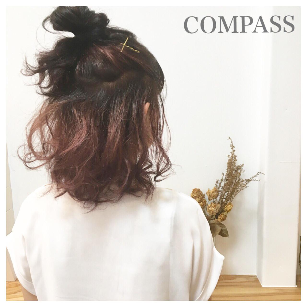 簡単ヘアアレンジ 涼しげ 夏 色気 ヘアスタイルや髪型の写真・画像   COM PASS 太一 / COM PASS