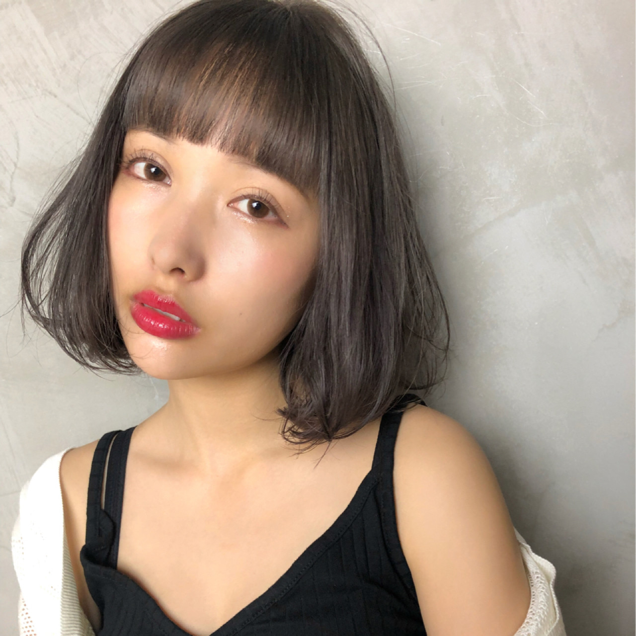ナチュラル 大人かわいい ボブ 涼しげ ヘアスタイルや髪型の写真・画像 | Ninomiya Takashi / Grege