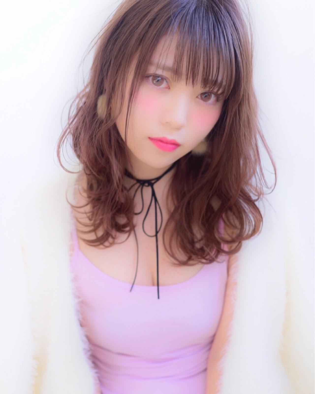 ミディアム 外国人風 ガーリー 色気 ヘアスタイルや髪型の写真・画像 | 山口裕二 / embellir