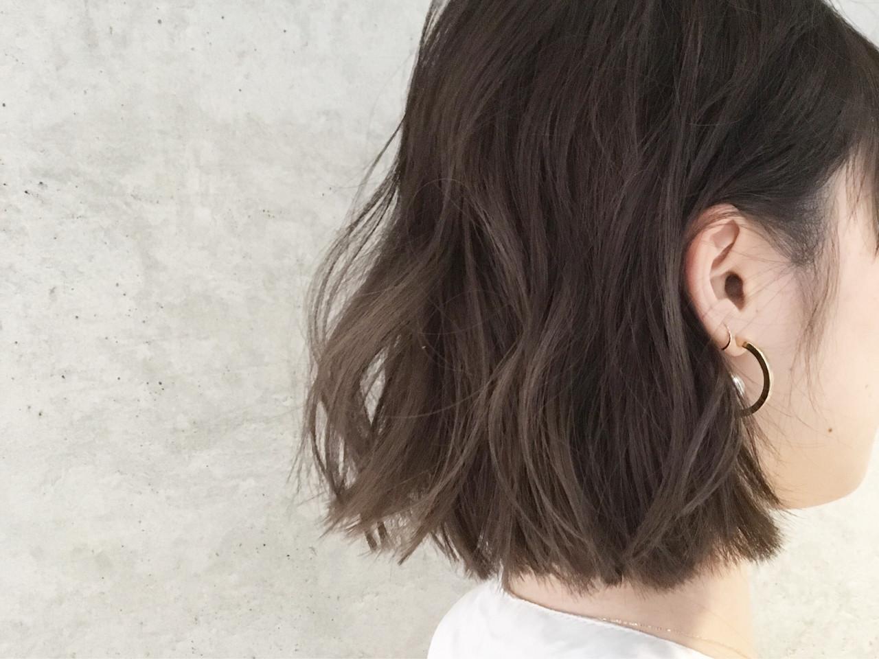 ボブ ナチュラル 色気 ゆるふわ ヘアスタイルや髪型の写真・画像 | Sayaka / diptyMOILA