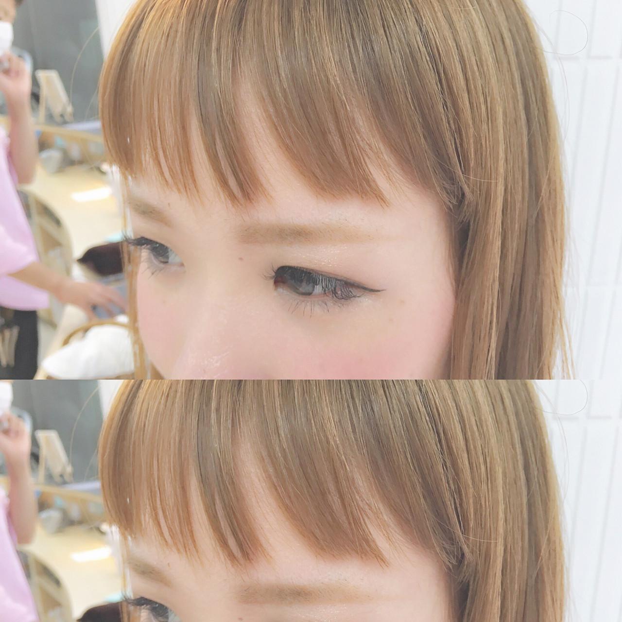 ミディアム ナチュラル シースルーバング 大人かわいい ヘアスタイルや髪型の写真・画像 | Chiaki Mori / M.SLASH FIEL