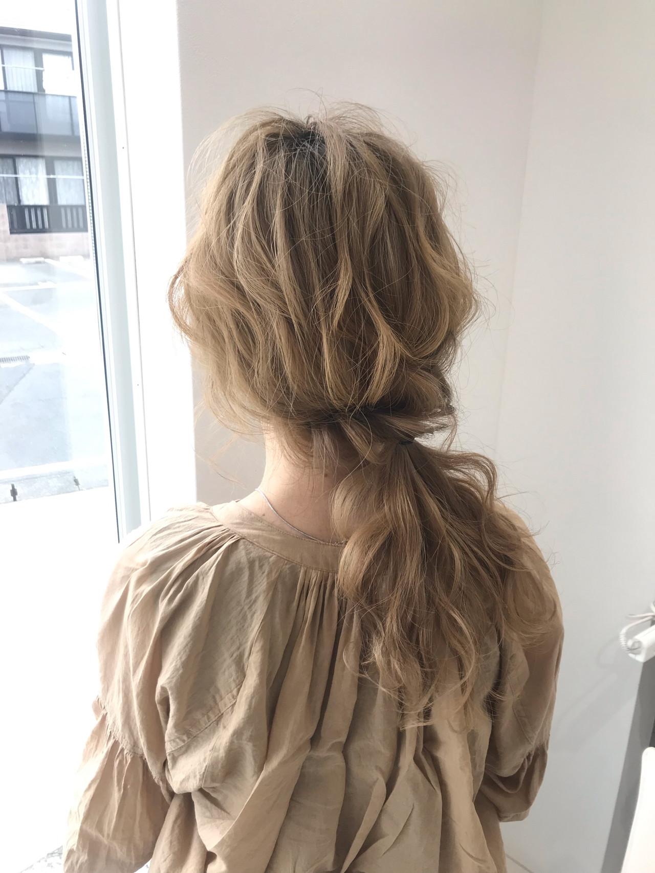ミディアム 結婚式 デート 簡単ヘアアレンジヘアスタイルや髪型の写真・画像