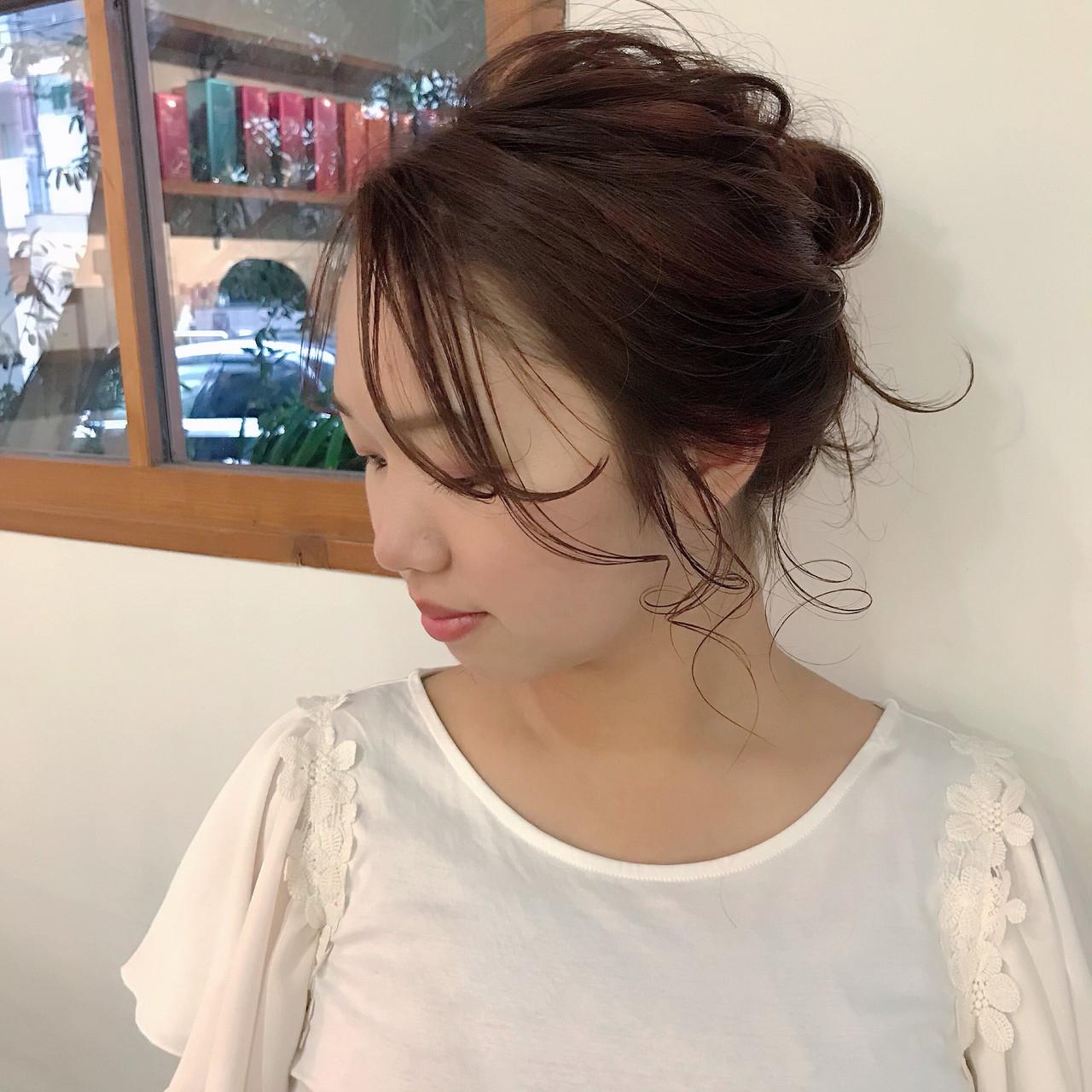 グラデーションカラー ピンク 結婚式 ミディアム ヘアスタイルや髪型の写真・画像   杉本あさか asa / buzz北堀江