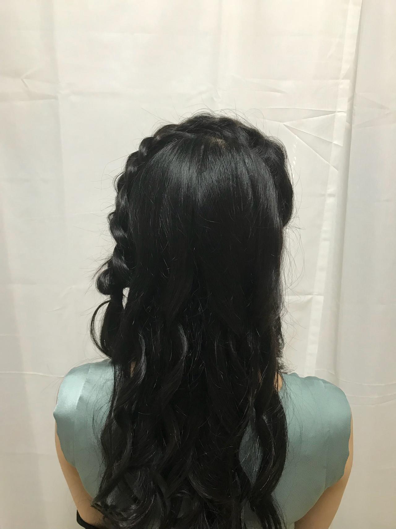 デート ガーリー ヘアアレンジ パーティヘアヘアスタイルや髪型の写真・画像