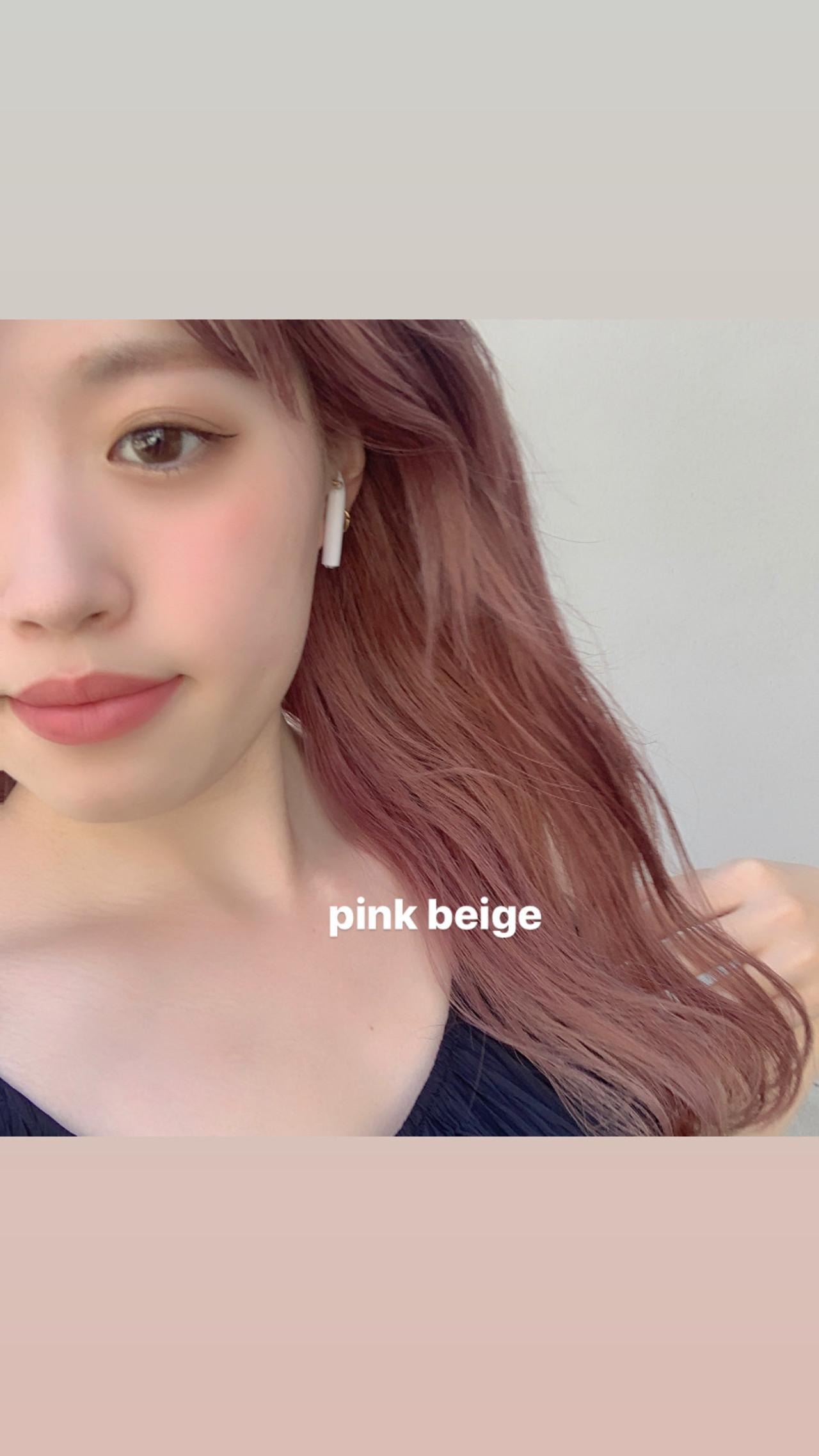 ベリーピンク ウルフカット ヘアアレンジ フェミニン ヘアスタイルや髪型の写真・画像