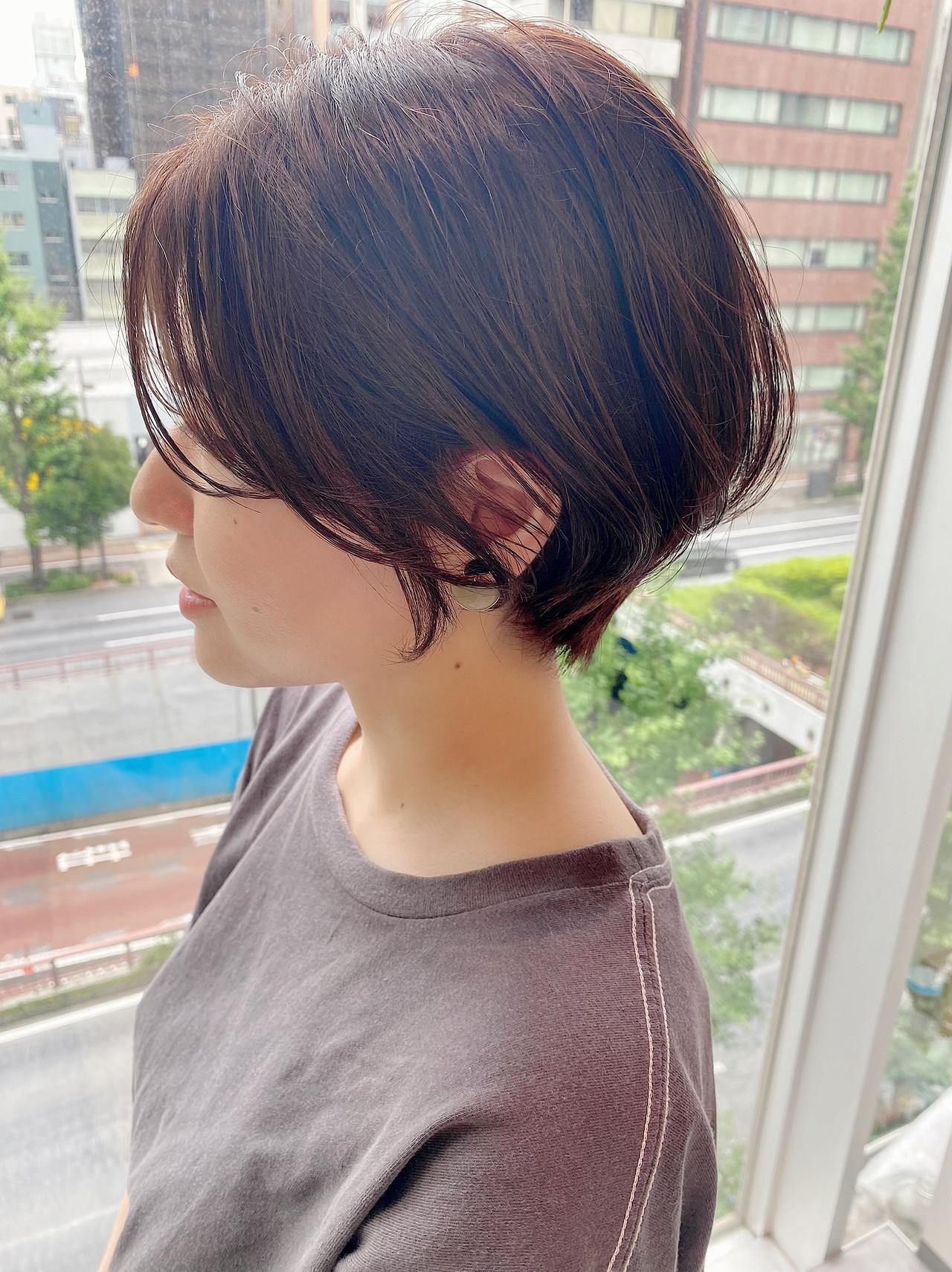 ショートヘア ショートボブ 大人かわいい ショート ヘアスタイルや髪型の写真・画像 | 大人可愛い【ショート・ボブが得意】つばさ / VIE