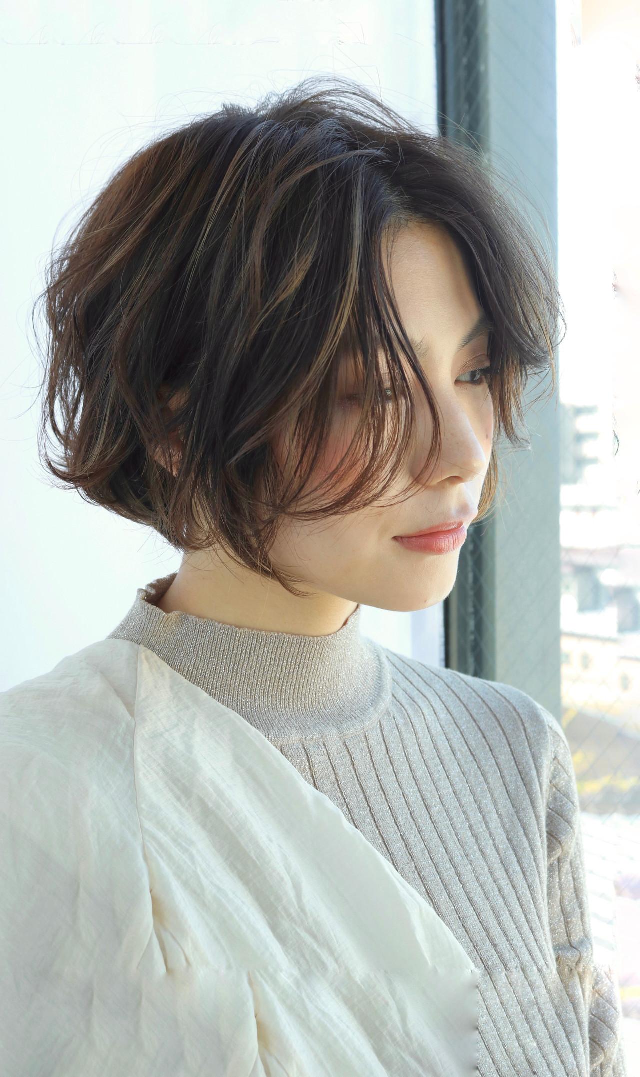 ミニボブ ショートヘア 切りっぱなしボブ 外ハネボブ ヘアスタイルや髪型の写真・画像 | 平澤 日向 / Neolive terrace