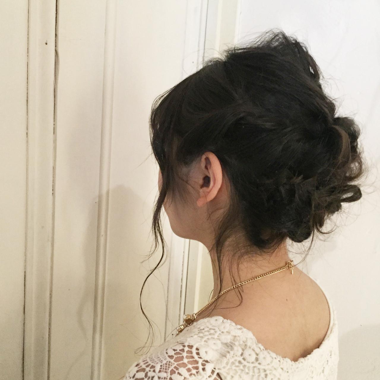 ヘアアレンジ 成人式 簡単ヘアアレンジ パーティ ヘアスタイルや髪型の写真・画像   吉岡 久美子 / Ravo HAIR / Ravo HAIR