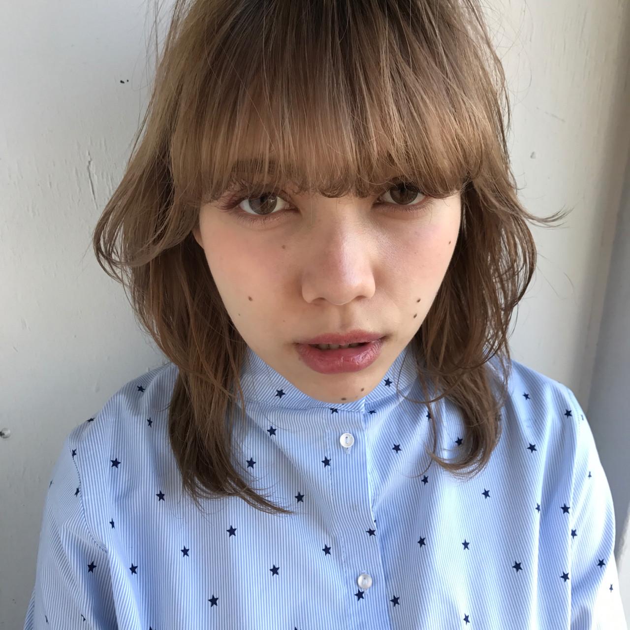 パーマ 色気 デート ウルフカット ヘアスタイルや髪型の写真・画像 | 小西敬二郎 / Heartim