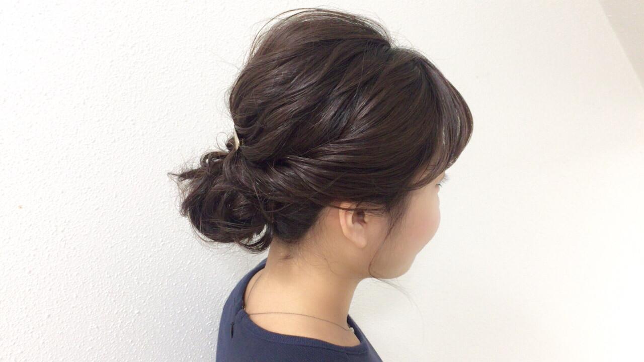 謝恩会 結婚式 成人式 ミディアム ヘアスタイルや髪型の写真・画像 | Taniguchi Yukiko / IRODORI hair design