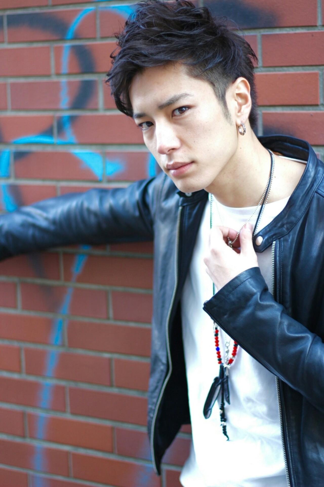 黒髪 ショート ボーイッシュ かっこいいヘアスタイルや髪型の写真・画像