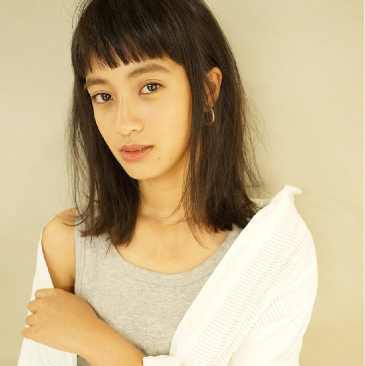 ミディアム 抜け感 くせ毛風 アンニュイ ヘアスタイルや髪型の写真・画像   佐野 正人 / nanuk / nanuk