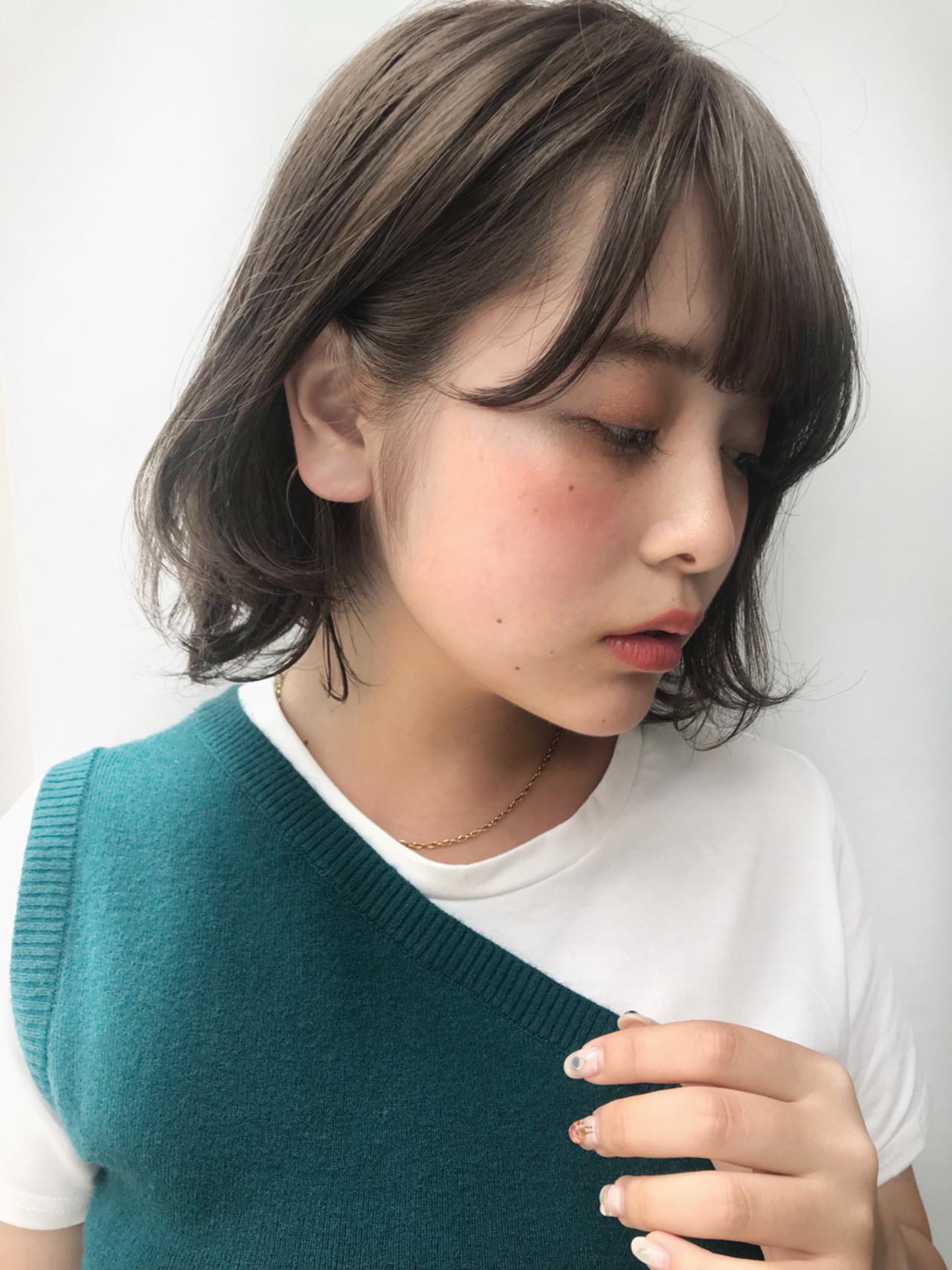 ボブ デート ヘアアレンジ 抜け感 ヘアスタイルや髪型の写真・画像 | 信澤貴一【愛され大人可愛いヘア美容師】 / un ami kichijoji