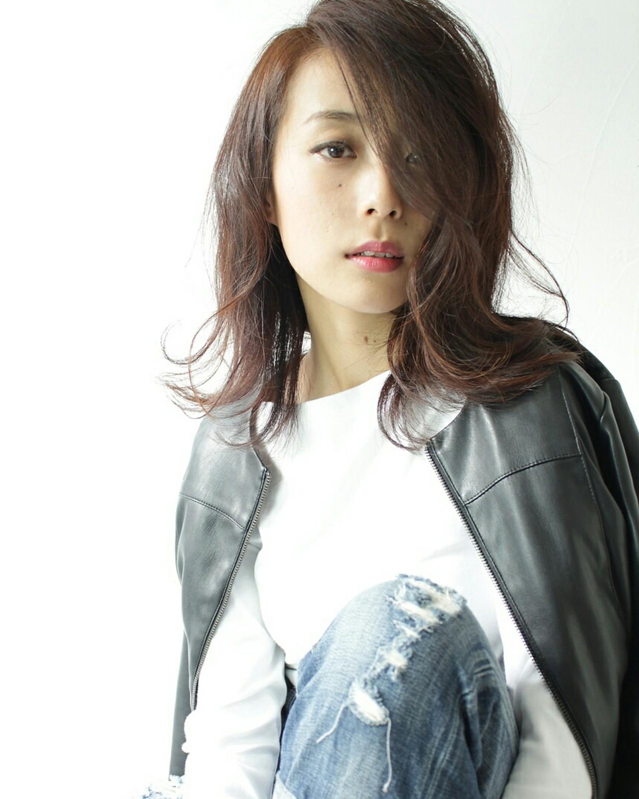 ボブ ストリート ピンク 外ハネ ヘアスタイルや髪型の写真・画像 | 原田 和幸 / TELA / TELA
