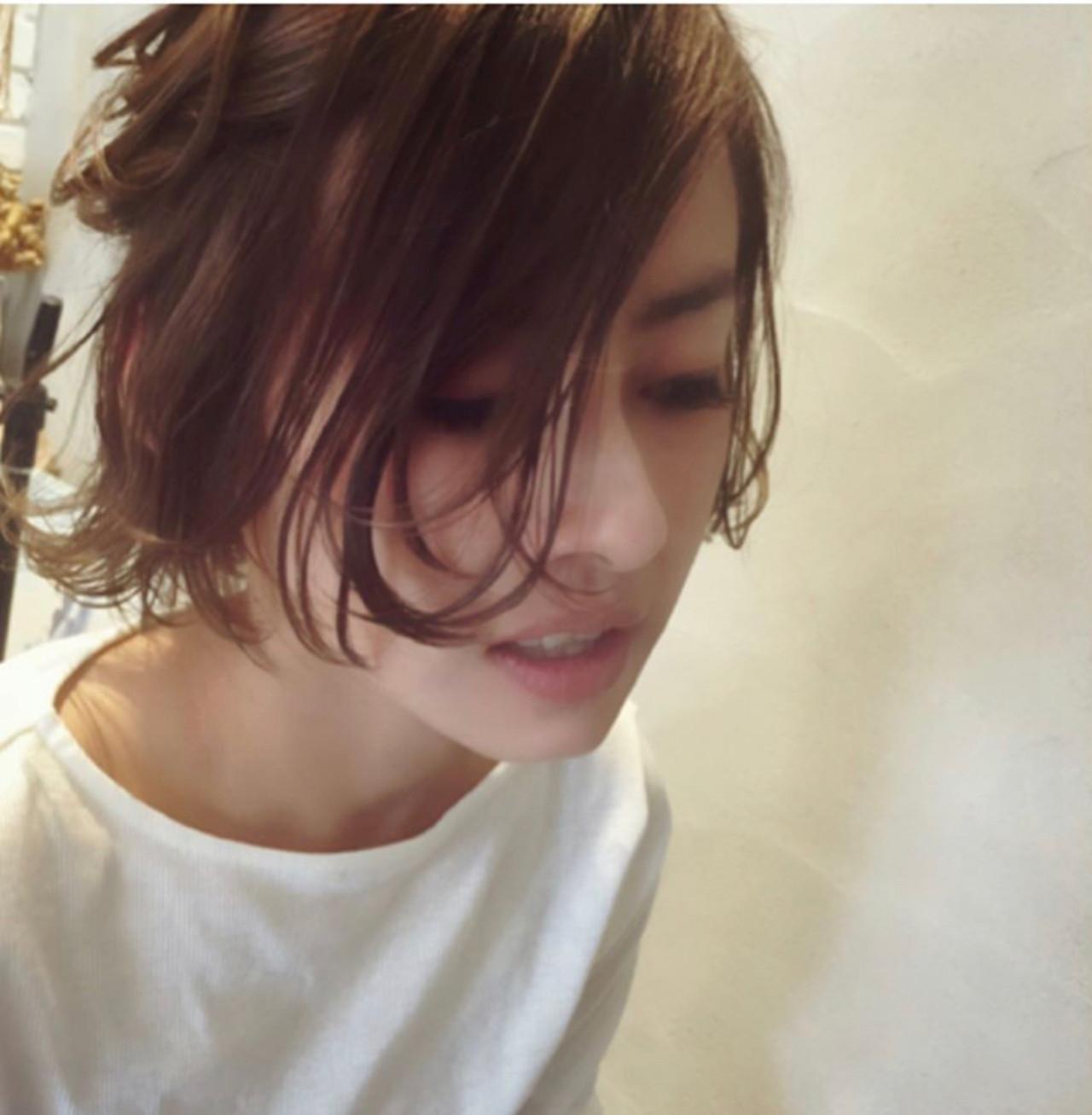 ボブ ナチュラル ボブヘアー モテボブ ヘアスタイルや髪型の写真・画像 | 平井 潮里/ENTRAIDE / ENTRAIDE  hair design studio