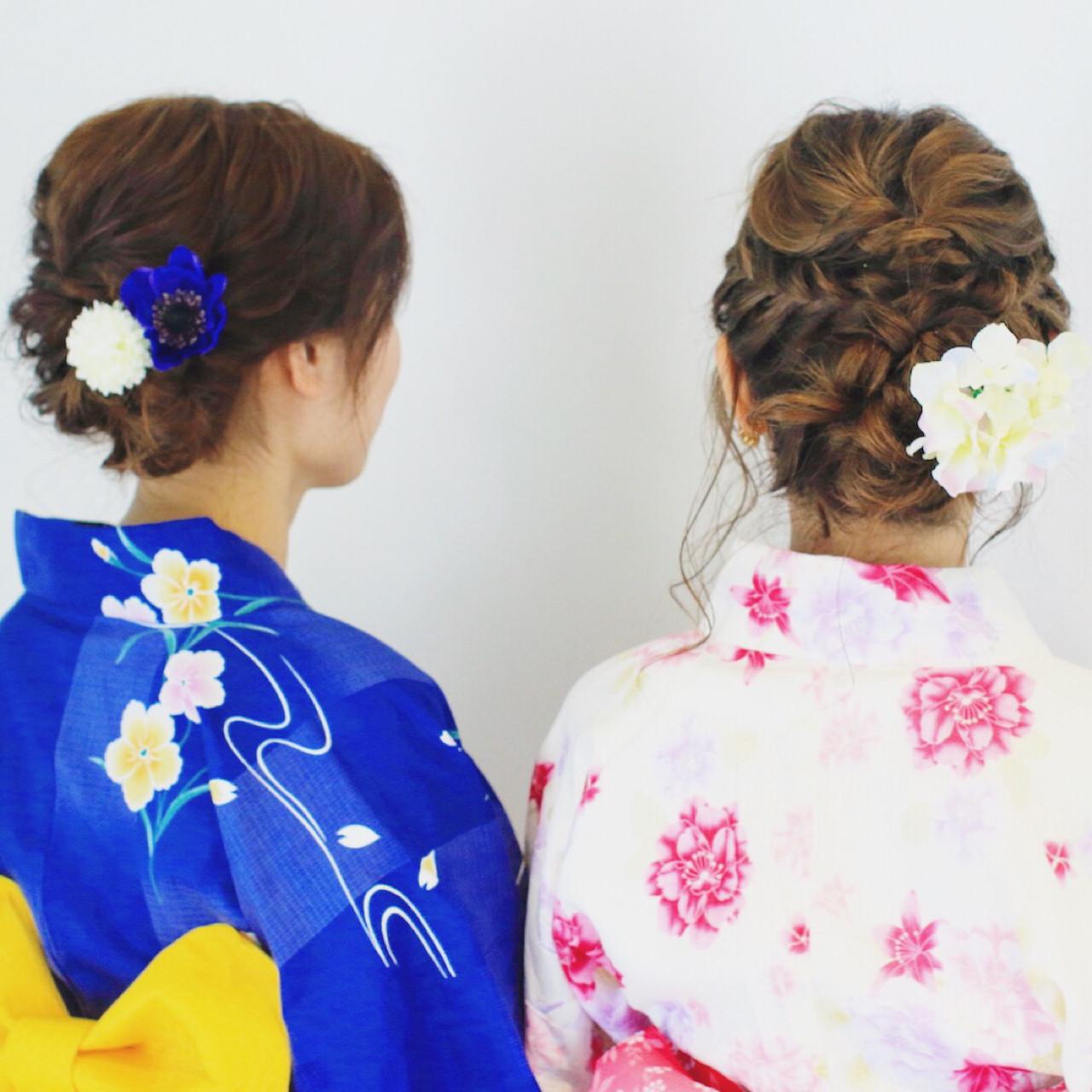 ヘアアレンジ ロング 花火大会 夏 ヘアスタイルや髪型の写真・画像 | 美容師HIRO/Amoute代表 / Amoute/アムティ