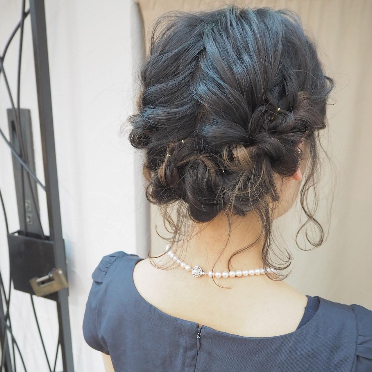 ヘアアレンジ ショート ボブ インナーカラーヘアスタイルや髪型の写真・画像